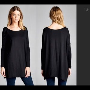 Long Black Elegant Top - CCO Flash Sale!